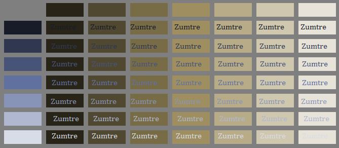 Colour Scheme Matrix Comparison