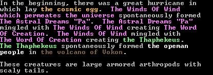 Dwarf Fortress Myth Generator Output